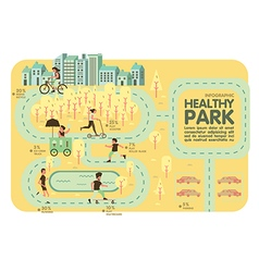 Healthy park recreation info graphic vector