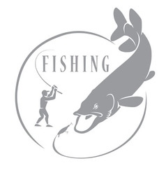 Pike fishing vector