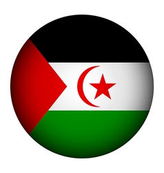 Sahrawi arab democratic republic flag button vector