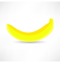 Banana icon isolated black on the white background vector