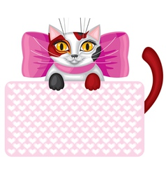 Kitty card vector