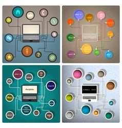Creative web design templates vector