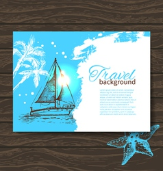 Travel colorful tropical design vector