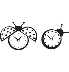 Ladybird wall clock vector