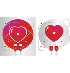 Glasses with a heart symbol vector