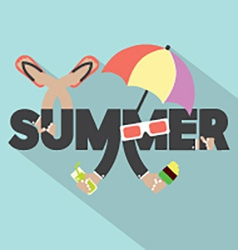 Concept of summer typography design vector