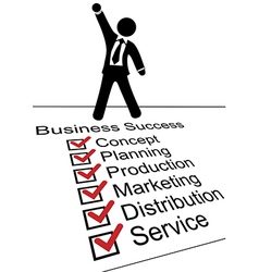 Business person on success check list vector