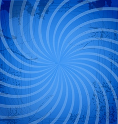 Vintage spiral blue background vector