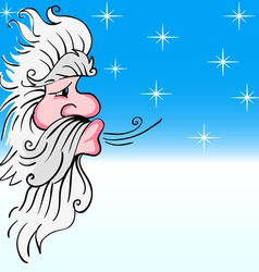 Santa claus blowing wind vector