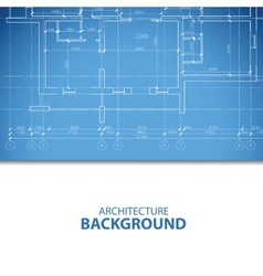 Blue architecture plan vector