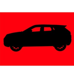 Sport utility vehicle silhouette vector