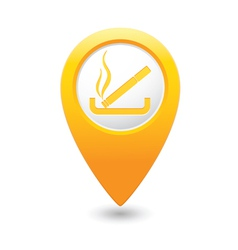 Smoking map pointer yellow vector