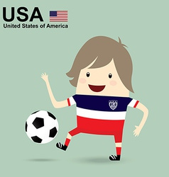 United states of america national football team vector