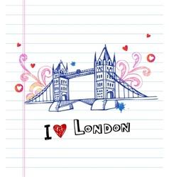 Tower bridge- symbol of london vector