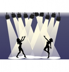 Spotlight dancers vector