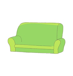 A sofa is placed vector