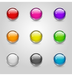 Colored round web buttons vector
