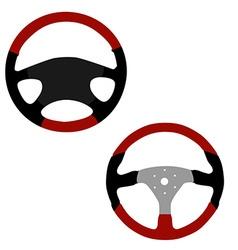 Two steering wheel vector