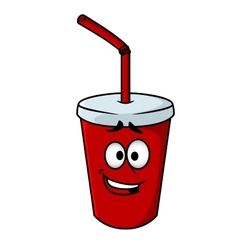 Cartoon takeaway soda vector