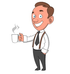 Worker with mug vector
