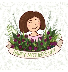 Greeting card happy mothers day vector