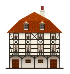 Traditional cottage vector