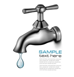 Water tap with drop vector