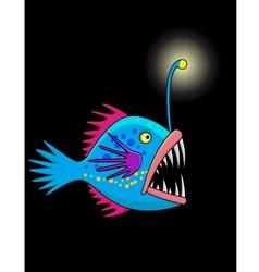Nice deep sea fish cartoon vector