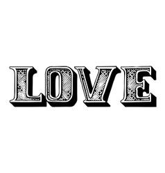 Love lettering vector