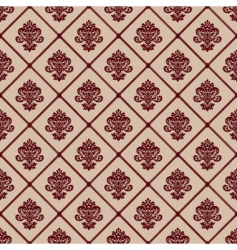 Seamless line and crest pattern vector