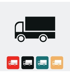 Cargo van icon vector