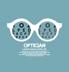 Optician vision of eyesight vector