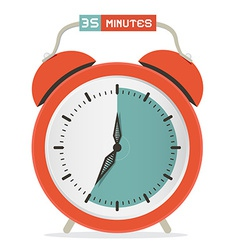 Thirty five minutes stop watch - alarm clock vector