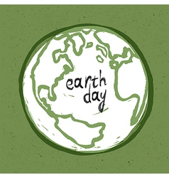 Earth day card design vector