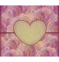 Romantic love letter valentine background eps10 vector
