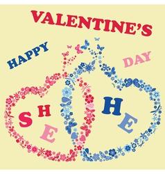 Valentines day invitations design vector