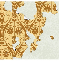 Vintage wallpaper torn vector
