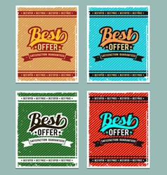 Best offer retro backgrounds vector