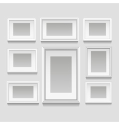 White frames set vector