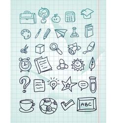 Icon set - hand drawn school doodles vector
