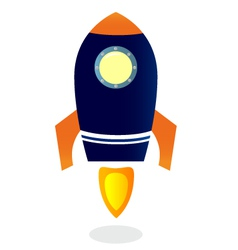 Cartoon rocket ship vector
