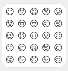 Emotion face icons set vector