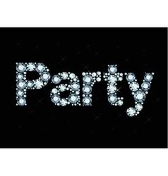 Diamond word party vector