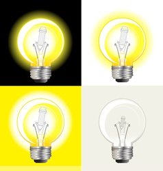 Light bulb inspiration vector