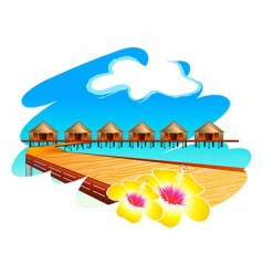 Maldives holiday vector