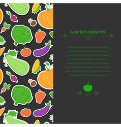 Vegetables background vector