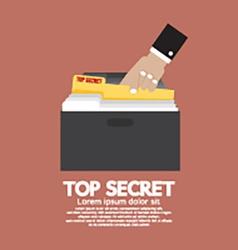 Top secret folder in hand vector