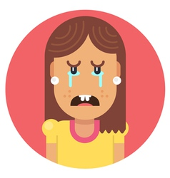 Girl with an ugly smile vector