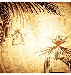 Vintage tropic background vector