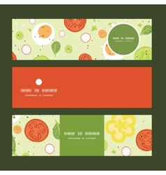 Fresh salad horizontal banners set pattern vector